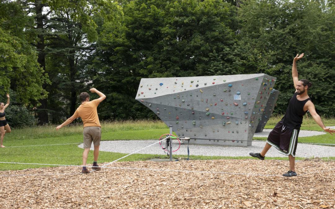 Ouverture du parc à slacklines en libre accès